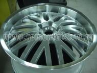 Пример покраски и полировки бортика колесного диска R22 ДО