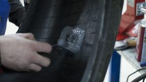 Грыжа на шине и её ремонт